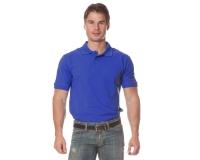 """Рубашка """"Поло"""" с коротким рукавом (синяя)"""