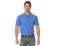 "Рубашка ""Поло"" с коротким рукавом (васильковая)"