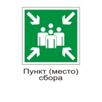 Знак самоклеющийся - E21