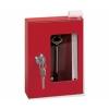 К-01 ключница для для 1-го ключа красная/белая (100х100х40)