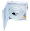 Шкаф для внутриквартирного пож.крана навесной закрытый белый (металл.) (300х300х50)