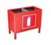 П-15-2 ящик-подставка для 2-х огнетушителей до 5 кг. (200х400х200)