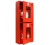 Шкаф пожарного крана ШПК-320 НОК для 1-го рукава и 2-х огнетушителей (навесной, открытый, красный, 540x1300х230мм.)