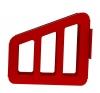 корзина с кронштейном для хранения рукава диам. 51/66 мм. красная